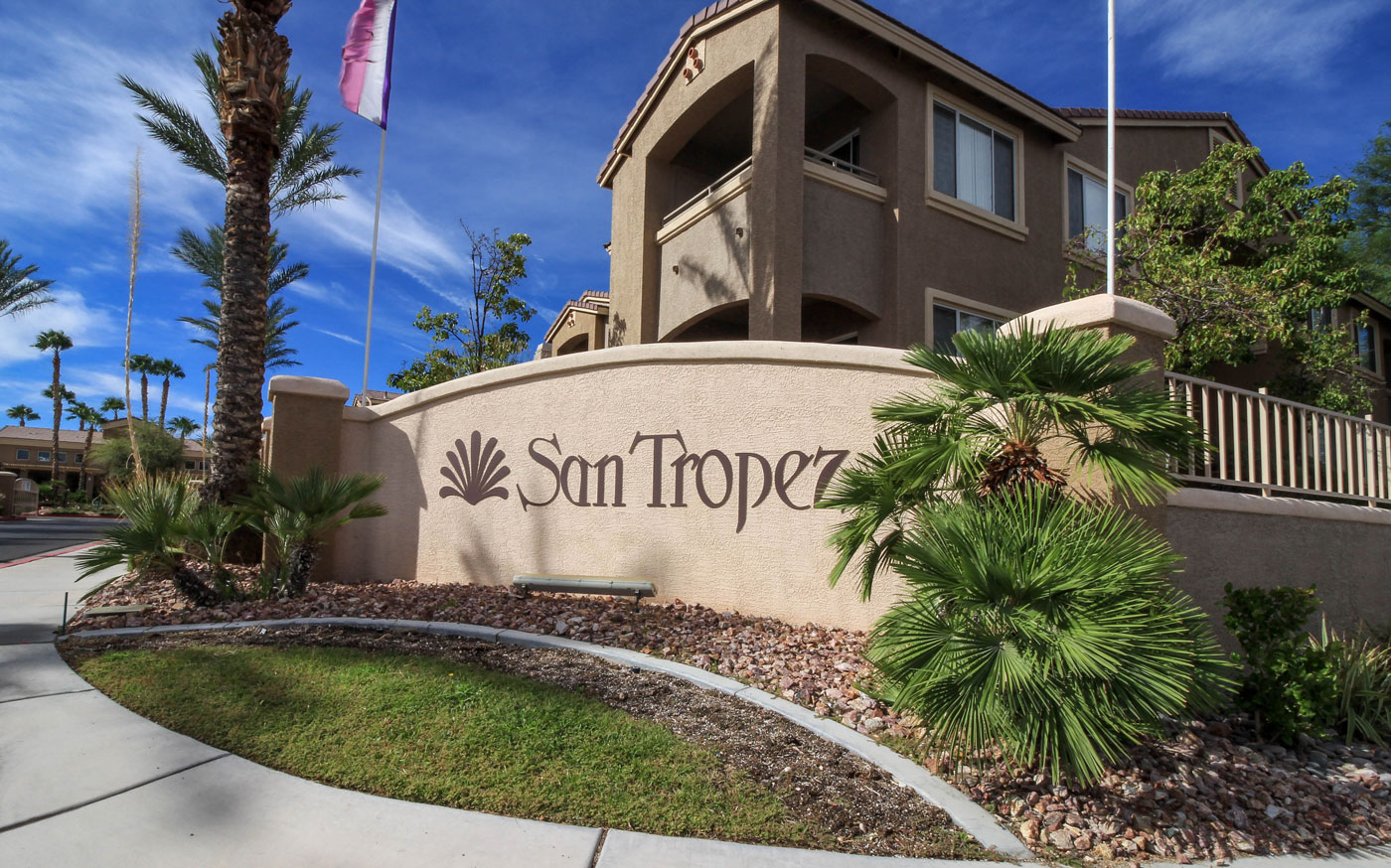 Entrance to San Tropez in Las Vegas, NV.