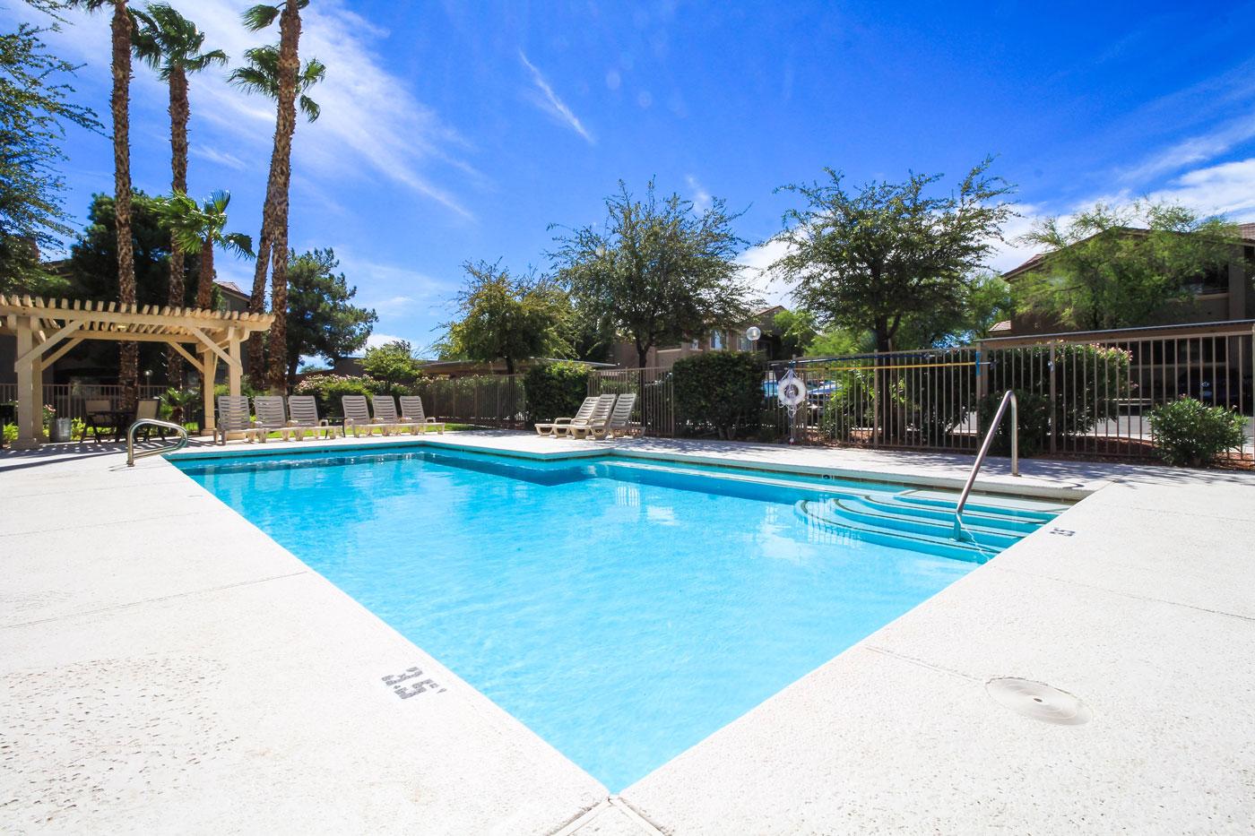 Large Pool at San Tropez in Las Vegas.
