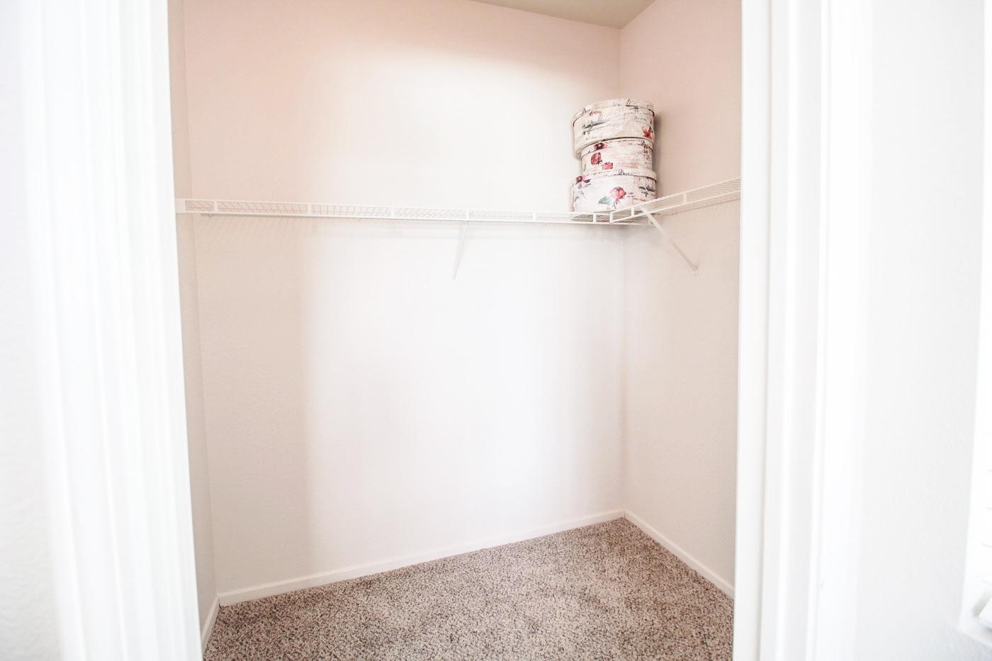 Large empty closet.